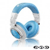 HD-1200 Professional White & Blue DJ Headphones